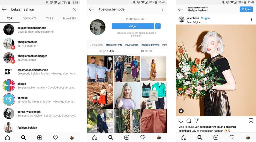 Instagram bedrijfsprofiel - hashtags - Lincelot