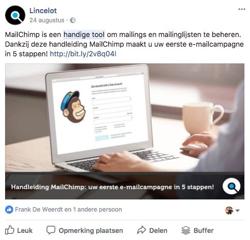 Facebook post idee 19 - Tool - Lincelot