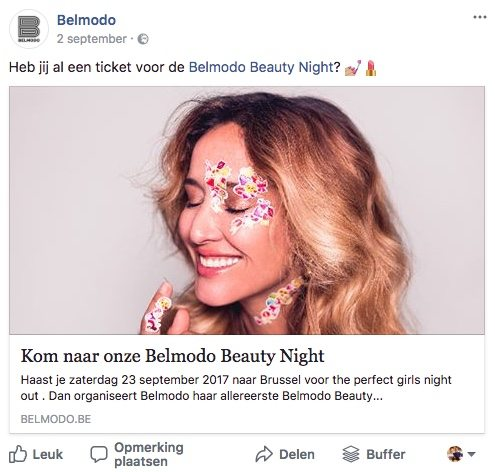 Facebook post idee 23 - Event - Lincelot