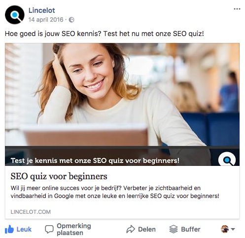 Facebook post idee 28 - Quizzes - Lincelot
