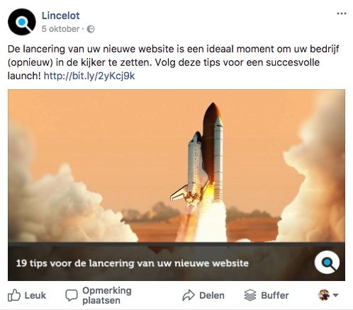 Facebook post idee 31 - Blog post - Lincelot