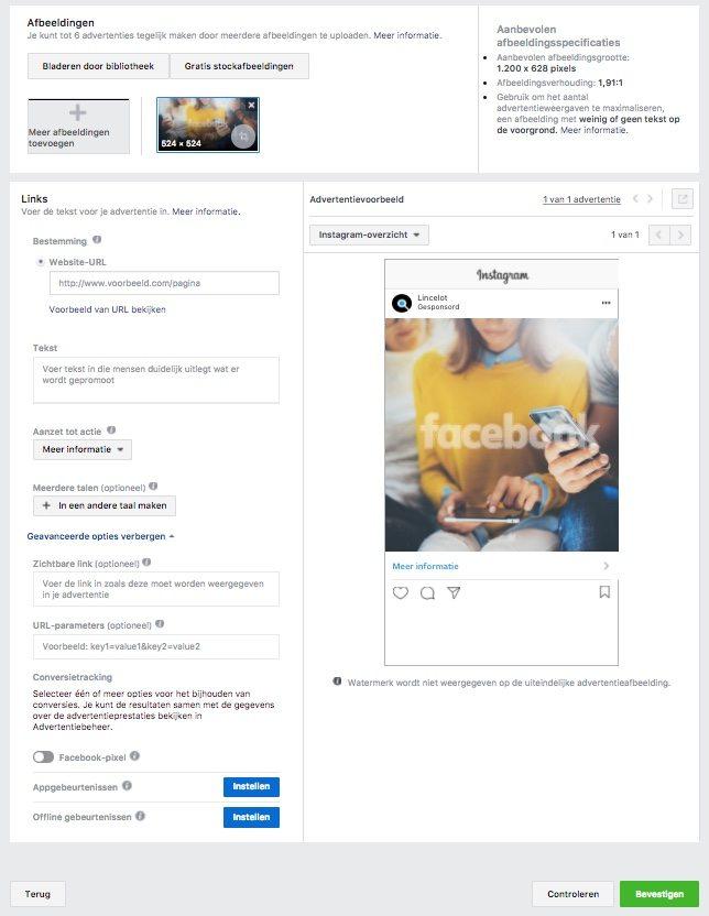 Adverteren op Instagram - Advertentie inrichten - Lincelot