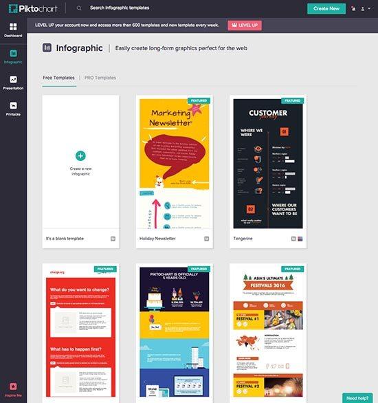Online foto's bewerken - 5 gratis fototools - Piktochart Infographics - Lincelot