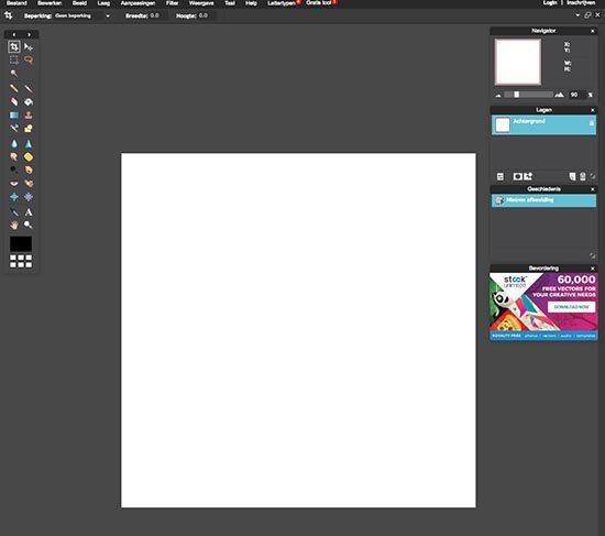 Online foto's bewerken - 5 gratis fototools - Pixlr dashboard - Lincelot