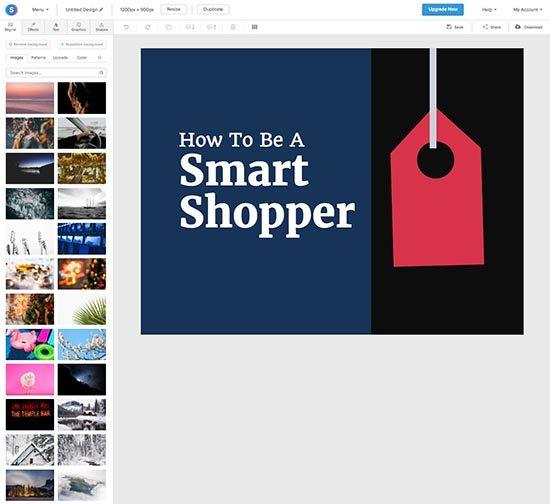 Online foto's bewerken - 5 gratis fototools - Snappa design elementen - Lincelot