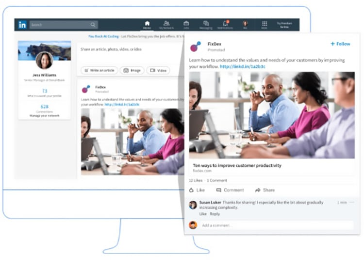 Gesponsorde Content - LinkedIn ads - Lincelot