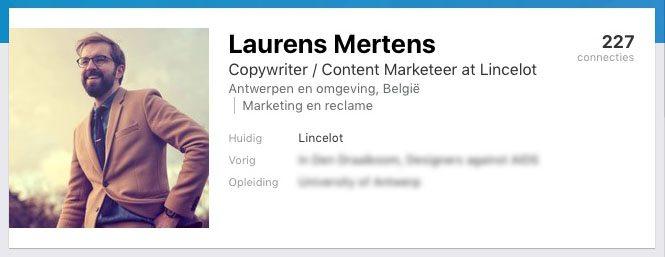 Lincelot personal profile Linkedin