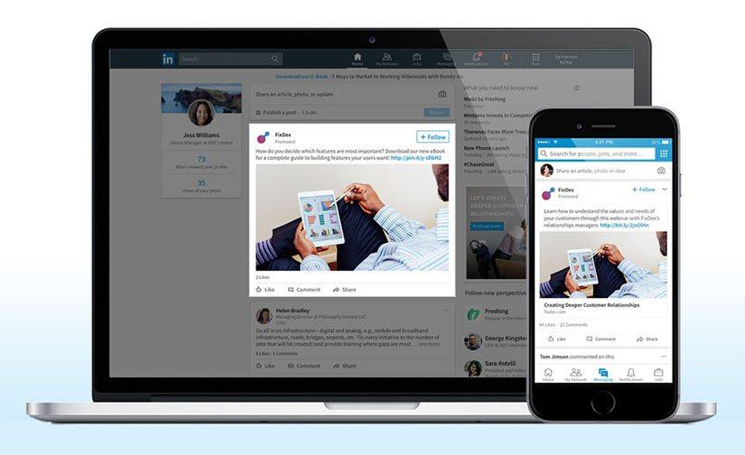 LinkedIn Bedrijfspagina - Voorbeeld Sponsored content - Lincelot Webdesign Marketing