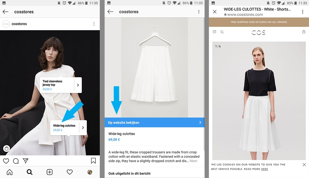 Shoppen op Instagram - trek meer klanten aan via Instagram Shopping - Voorbeeld - Lincelot