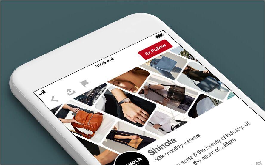 Wat is Pinterest en wat zijn de voordelen voor je bedrijf - Voorbeeld Mobiel