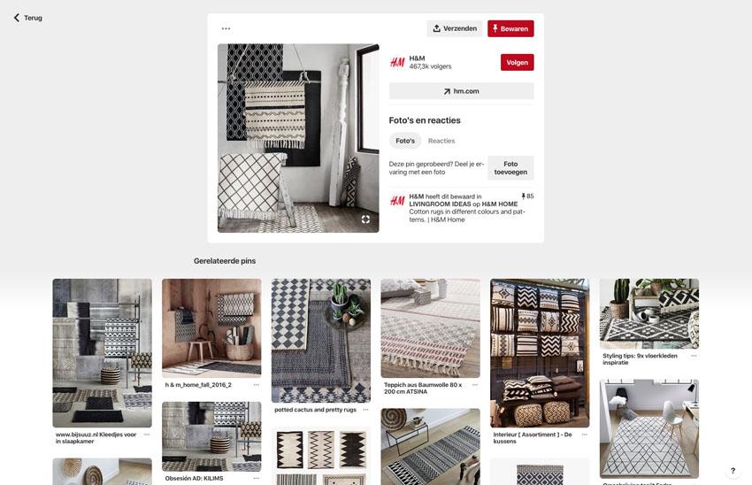 Wat is Pinterest en wat zijn de voordelen voor je bedrijf - Voorbeeld Pin