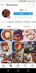 Instagram hashtags #hautecuisine | LINCELOT