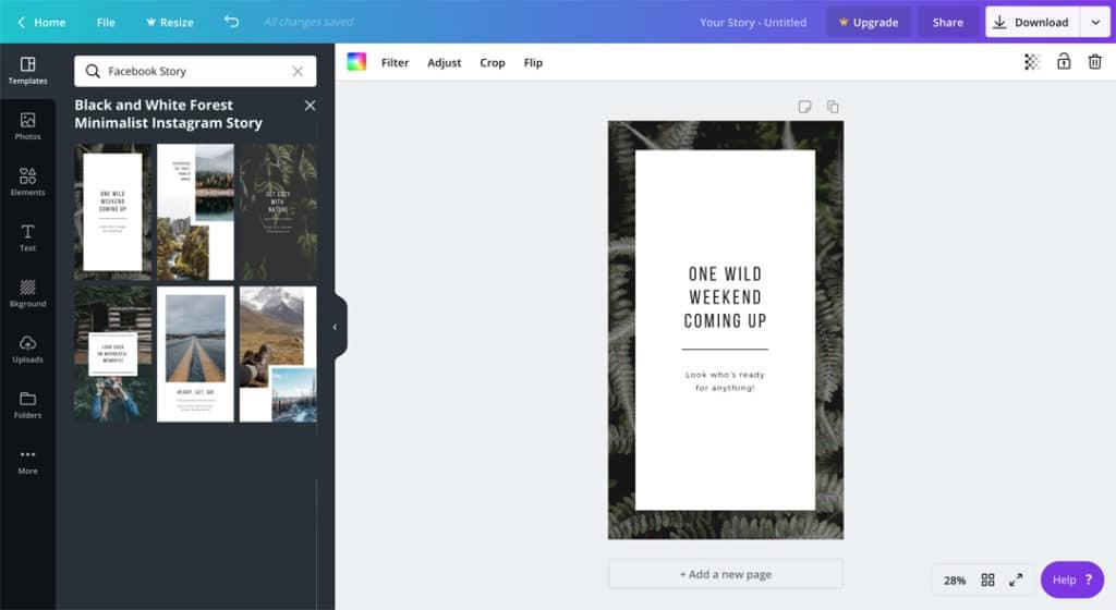 Facebook Stories voor bedrijven - de gids voor beginners - Canva - Lincelot